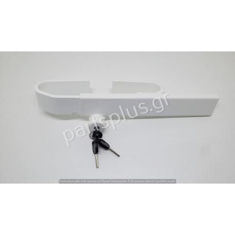 Chrome lock locking rear doors adijustable from 230 to 430